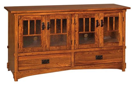 wood media cabinets amish mission arts crafts tv stand cabinet media storage 1147