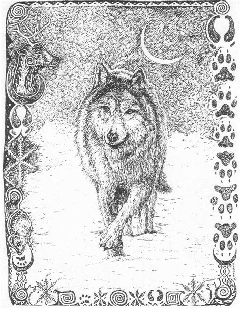 Light The Wolves Colouring Pages