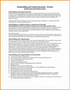 4 sample of medical billing and coding simple bill With sample resume for medical billing and coding student