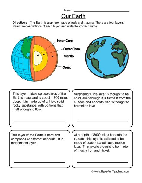 space worksheets teaching