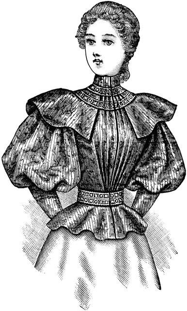 late  century dress clipart
