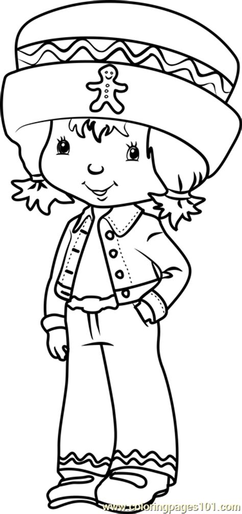 cute ginger snap coloring page  strawberry shortcake coloring pages coloringpagescom