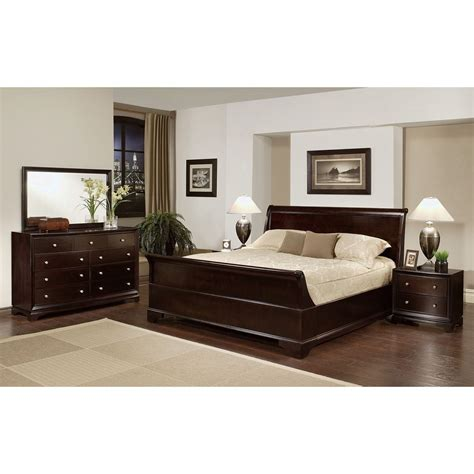 Deals On Bedroom Sets by Abbyson Living Kingston 5 Espresso Sleigh Size