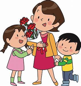 Clipart - Mother and Children (#2)
