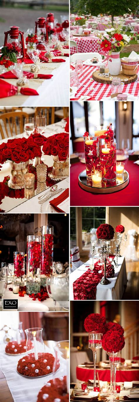 inspirational classic red  white wedding ideas
