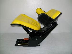 Tractor Seat Yellow Waffle Farm Tractors Universal Fit Spring Suspension  Ao