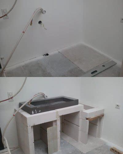 beton cellulaire salle de bain meuble pour la vasque de la salle de bain l atelier de tif n et jp