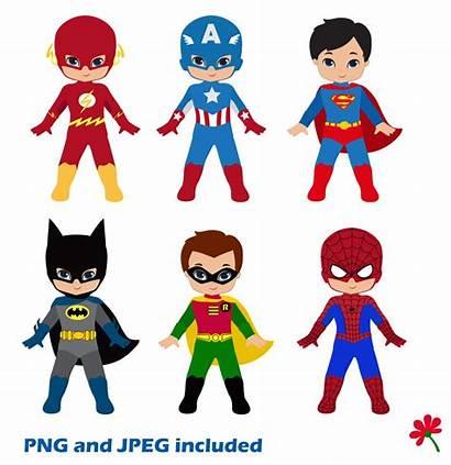 Superhero Clipart Superheroes Superman Clip Boy Boys