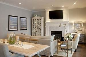 Love the kitchen dining family room combo and the flow of for Interior design living dining room combination