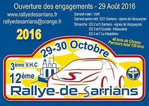 Rallye Sarrians 2017 : rallye de sarrians 2016 ~ Medecine-chirurgie-esthetiques.com Avis de Voitures