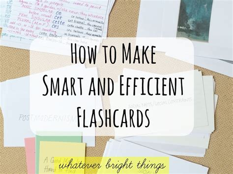 100 making your own flash cards how to make