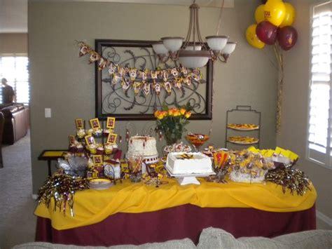 arizona state university themed graduation dessert buffet