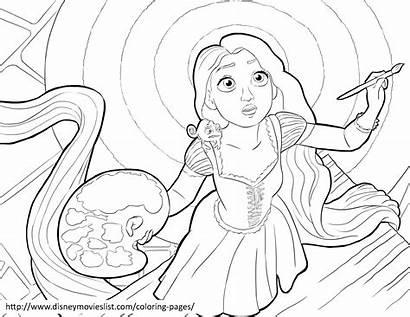 Paint Coloring Pages Painting Rapunzel Disney Tower