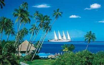 Tropical Cabin Seascape Nice Tropics Ocean Relax