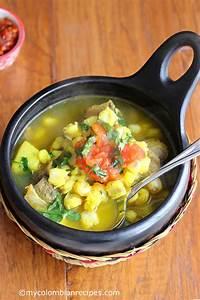 Colombian, Yellow, Hominy, Soup, Sopa, De, Mute