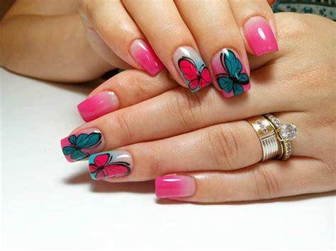 Cute Butterfly Nail Art Design Ideas