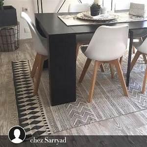 Tapis de couloir 90 x 200 en coton imprime block house for Tapis couloir avec canapé house doctor
