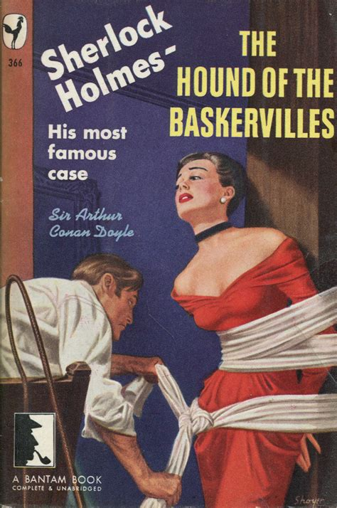 1949 pulp covers detective hound bantam baskervilles novels doyle classic sherlock conan paperback lurid fiction stories agatha dashiell christie chandler