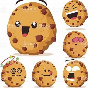 Chocolate Chip Cookie Cartoon Set A stock vector art ...