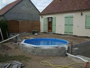 Piscine Semi Enterré Bois : piscine bois semi enterr e 5x3 ~ Premium-room.com Idées de Décoration