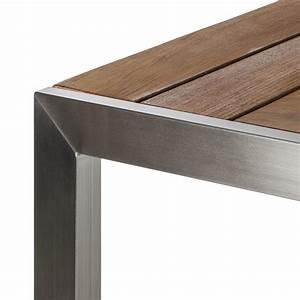 Gartentisch Edelstahl Holz : gartentisch teak line vari edelstahl teakholz kaufen home24 ~ Frokenaadalensverden.com Haus und Dekorationen
