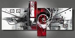 Tableau Metal Design : tableaux design abstrait en 4 toiles moderne ~ Teatrodelosmanantiales.com Idées de Décoration