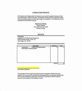 consulting consultant invoice template 7 free sample With consultancy invoice format