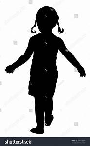 Walking Girl Silhouette Vector Stock Vector 284119508 ...