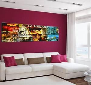 Tableau Salon Design : tableau ville cuba la havane artwall and co ~ Teatrodelosmanantiales.com Idées de Décoration