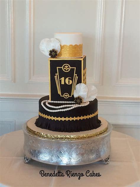 great gatsby sweet sixteen cake cakecentralcom