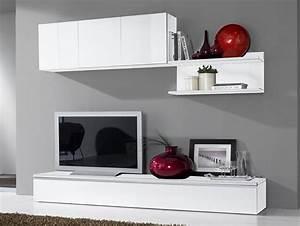 Meuble Tv Mur : les bons conseils pour la fixation d un meuble au mur ~ Teatrodelosmanantiales.com Idées de Décoration