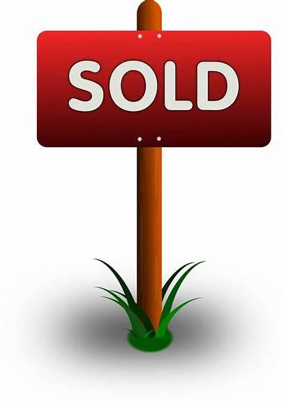 Sold Sign Clipart Estate Realtor Svg Property
