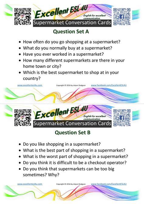 esl supermarket conversation