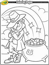 Coloring Crayola Pot Gold Leprechaun Pages St Leprechauns Patricks sketch template