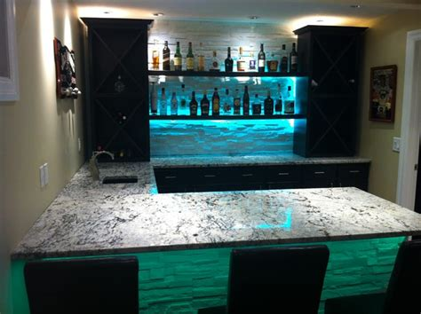 Led Lights For Cold Rooms by Cold Granite Bar With Led Lighting Modern Living Room