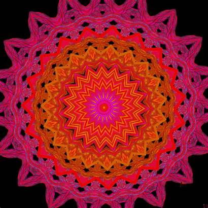 Mandala Psychedelic Gifs Animated Illustration Artists Gifer