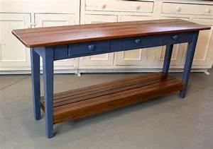 Barn Wood Console Table With Slatted Shelf - ECustomFinishes