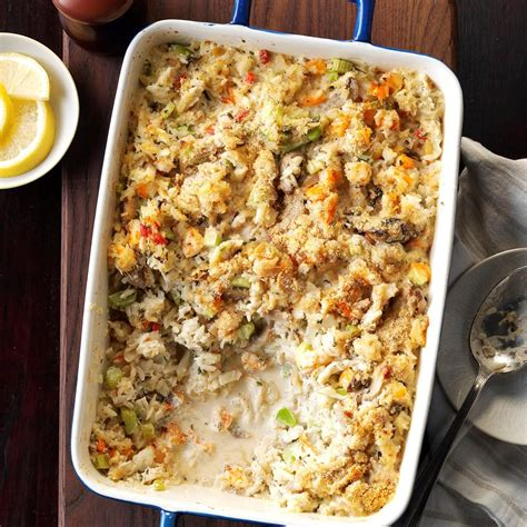 Simple seafood casserole is the simplest yet our favorite seafood casserole. Seafood Casserole Recipe   Taste of Home