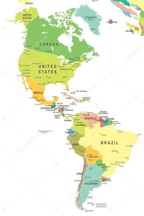 nord und suedamerika karte abbildung stockvektor