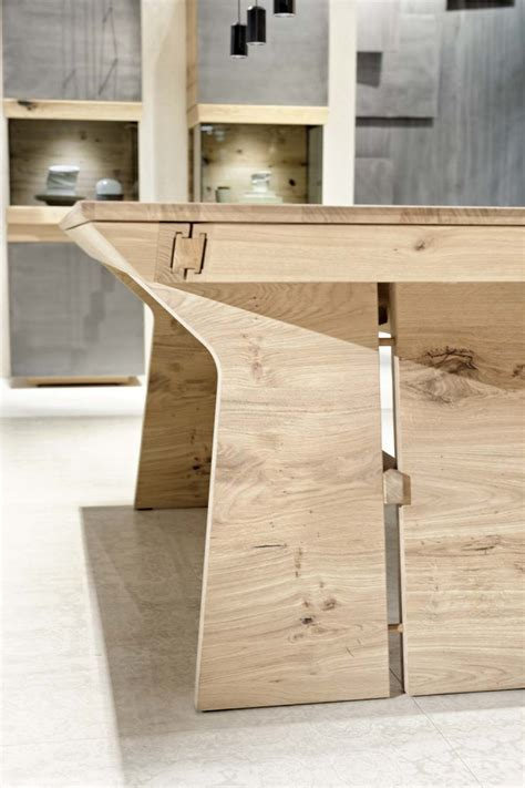 cuisine design allemande dining table oak or walnut wood tema