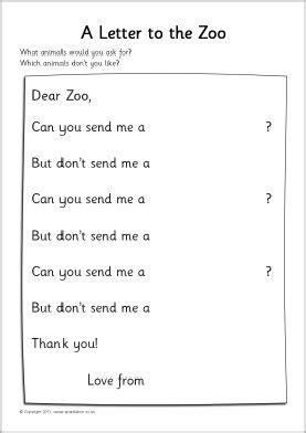 dear zoo writing frames sb sparklebox ona dear