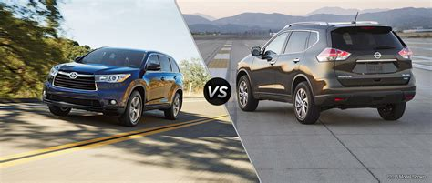 nissan highlander 2016 toyota highlander vs 2016 nissan rogue
