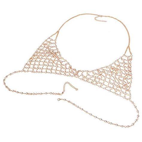 joker kette gold 5x brust kette mode joker koerper kette frauen legierung diamant qp ebay