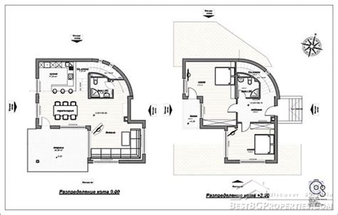 house and floor plans 2 bedroom country villa modern design rural villa plan