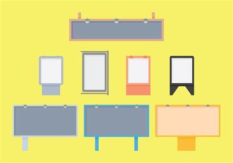 hoarding billboard flat vector icons