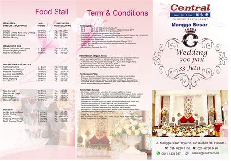 attractive paket pernikahan  jakarta central restaurant