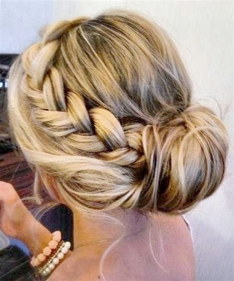 side braid bun 7 easy bun hairstyles for busy days