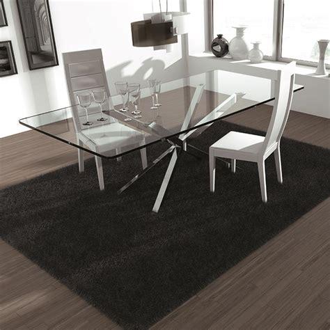 tabouret de cuisine 4 pieds table en verre design pieds en croix sur cdc design