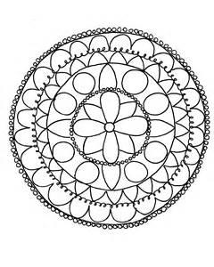 Drawing Mandala Coloring Pages
