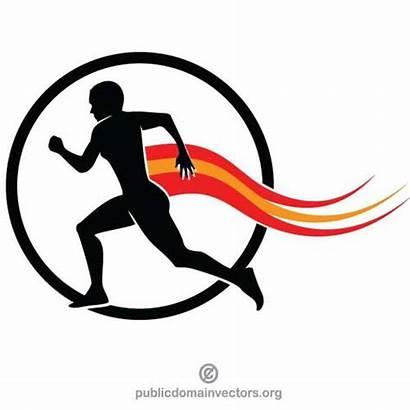 Marathon Runner Silhouette Clipart Gambar Pelari Seorang